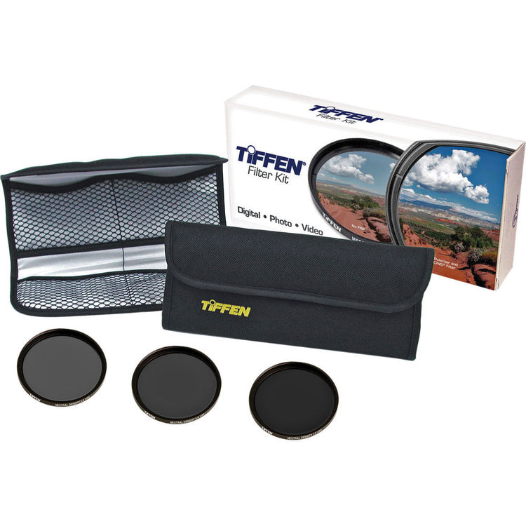 Tiffen 77mm Digital Neutral Density Filter Kit - 0.6, 0.9, 1.2 Filters